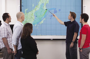 ARPANSA staff examining the radioactive fallout plume from the Fukushima Dai-ichi Nuclear Power Plant Accident, Japan